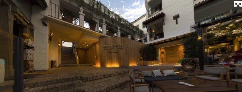imagen de restaurante de dani garcia en hotel puente romano de marbella para produccion audiovisual promocional